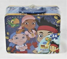 Jake and the Neverland Pirates 24 Piece Puzzle in Metal Lunch Box New