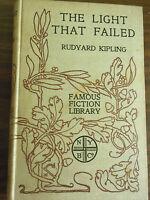 The Light That Failed by Rudyard Kipling 1910  Rare Antique Books! $