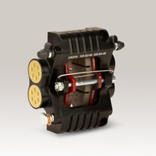 Brake Caliper Hydraulic Gold 2-kolben with Pads for Go-Kart