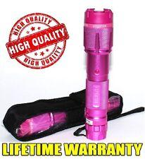 Pink 900 Million Volt Self Defense Rechargeabe Stun Gun  + taser case