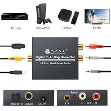 Optical Coaxial Toslink Digital to Analog Audio Converter Adapter RCA R/L 3.5mm