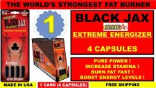 1X STACKER 2 BLACK JAX EXTREME ENERGY FAT BURNER INCREASE STAMINA (4 Capsules)