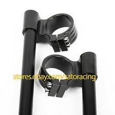 31mm CNC Raised Clip Ons clipon Fork Handle Bars set For Honda Suzuki Yamaha New