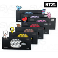 BTS BT21 Official Authentic Goods Wireless Silent Keyboard 7Characters By Royche