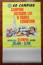 1970s Go Camping Exhibition Olympia Original Railway Travel Poster