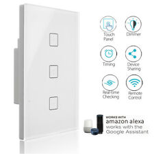 WIFI Smart Dimmer Light Switch Touch Automation APP For Echo Alexa Google Home