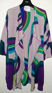 Yolanda Lorente Vintage Open Front Silk Kimona Style Top-Size M