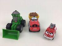 Tonka Chuck and Friends Lot 3pc Toy Talking DieCast Cars Firetruck Bulldozer
