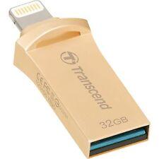 Transcend Jetdrive GO 500 Lightning USB OTG 130MB/s 32 GB USB in oro 3.0 NUOVO ST