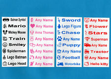 20 Printed Iron-On Name Labels Personalised School Tapes, Tags for Clothes