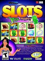 WMS Slots Jade Monkey (PC 2014) 15 GAMES DISC & ARTWORK ONLY NO CASE UNUSED COND