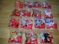 2017 MCDONALDS TY BEANIE BOOS - COMPLETE SET OF 1 - 15 - SEALED IN THE BAGS.
