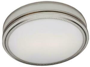 Hunter Brushed Nickel Ceiling Exhaust Decorative Bathroom Ventilation Fan Light