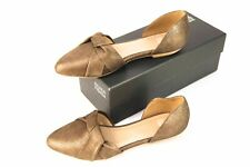 *NEW* in box $198 Eileen Fisher Bronze Tone Leather D'Orsay Flats size 9.5