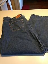 Very Nice Mens Levis 550 Relaxed Fit Jeans Size 52 x 32 Blue Perfect