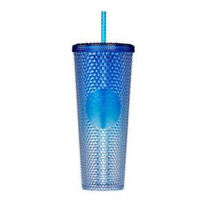 Starbucks Korea 2021 Shine Blue Bling Stud Cold Cup 710ml / Summer 3rd Edition