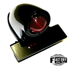Black sparto universal tail light for harley, triumph, xs, and all custom bikes
