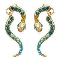 Fashion Lovely Rhinestone Snake Dangle Eardrop Women Earrings Ear Studs Jewelry