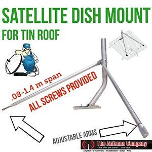 Tripod Flexi Iron Metal Tin Roof Mount Satellite Dish TV Ku Foxtel Optus single.