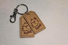 Personalized Keyring Tag Leather Custom Tag key fab Bespoke