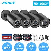 ANNKE 4Pcs HD 1080P CCTV Camera Indoor/Outdoor IR Security Surveillance System