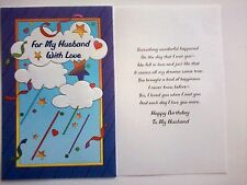 Hi-Lites by Majestic Greetings Birthday Husband Stars Hearts Happiness Dreams