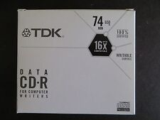 TDK CD-R for computer writers CD-R, 74 Minute, 650 MB 16X ..box of 10