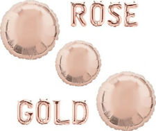 "18"" ROSE GOLD CIRCLE Shape Amscan Foil Helium Fill BALLOON Wedding Baby Shower"
