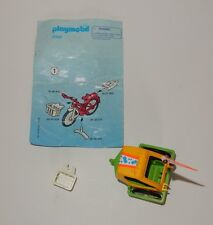 Playmobil #3068 Green Bike Trailer & White Bike Basket w/Instructions
