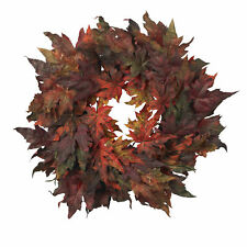 "Artificial 30"" Maple Leaf Autumn Fall Thanksgiving Colors Wreath"