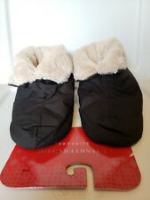 Charter Club Womens Bootie Slippers Black Medium