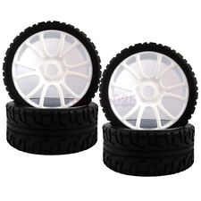 SET RC 1:8 On-Road Car Buggy Foam Rubber Tyre Tires Wheel Rim White 84W-803