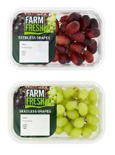 (1-3x300g) Farm Fresh Seedless Grapes,Purple&green