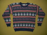 NORTHERN ISLES Snowman CHRISTMAS SWEATER Warm Winter Size Women's XL Ugly Party