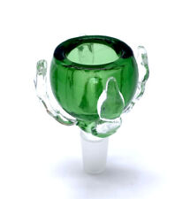 Green 14MM Big diamond bowl for Glass  bong hookah Pipes slides smoking pipe