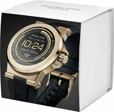 NEW in  SEALED BOX  MICHAEL KORS Access Dylan Black Gold  Smartwatch MKT5009