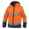 DASSY Malaga 300329 Hi-Vis Softshell Work Jacket - Orange/Navy