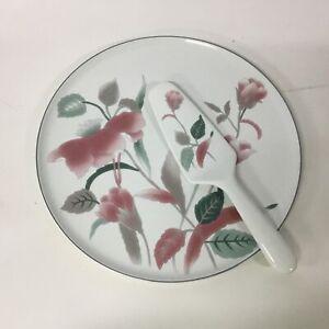 Mikasa Large Round Cake Plate & Cake Server In Original Case #404