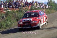 Freddy Loix Mitsubishi Lancer Evo 6.5 1000 Lakes Rally 2001 Photograph 1