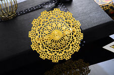 1PC Hollow Flower Brooch New Fashion Ladies Girls Gold Plated Deco Gift 5.6cm