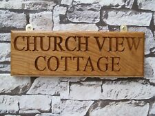 Personalised Oak House Signs,Carved,Custom engraved outdoor wooden name plaque