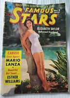 EXCITING LIFE STORIES CARTOON OF FAMOUS STARS - ELIZABETH TAYLOR, MARIO LANZA