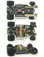 1982 Aurora G+ G-PLUS Slot Car NARROW INDY CHASSIS Bench Tested BLACK WHEELS Red