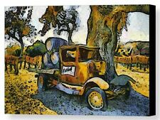 Blackjack Winery Truck Santa Ynez California Barbara Snyder Canvas Giclee 24x32
