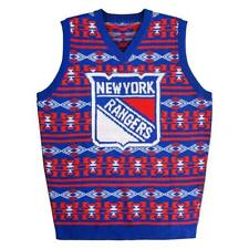 Too Cool! New York Rangers Mens Sweater Vest Size Small Ugly Christmas __S17
