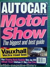 Autocar 18/10/1995 - Thrust SSC - Caterham 21 - Road Test: Vectra 1.6 LS