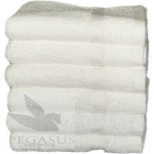 1 new white premium 100% cotton hotel bath towel plush 27x54 17# per doz pegasus