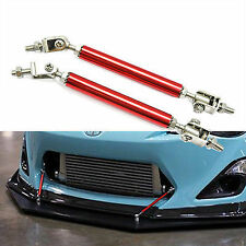 2x Adjustable Bumper Lip Splitter Rod Strut Tie Bar Air Dam Splitter Support Rod