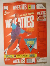 MT WHEATIES Cereal Box 1989 18oz MICHAEL JORDAN Air Jordan Flight Club [G7E2e]