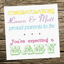 Handmade Personalised Expecting A Baby Card  - Parents To Be